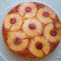 Ananaslı alt üst kek