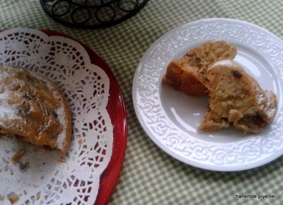elmalı kek dilim