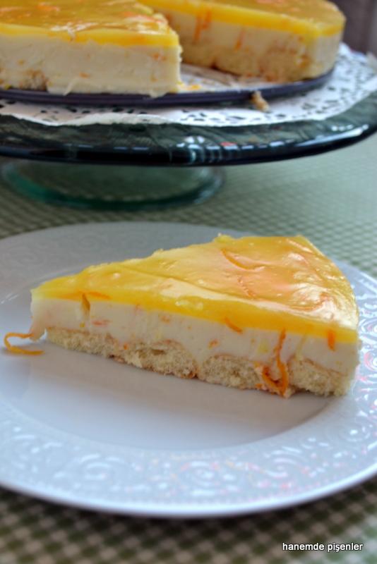 portakallı muhallebili tatlı