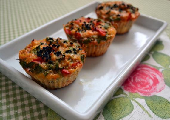 ıspanaklı muffin
