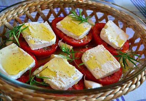 aromatik fırın domates