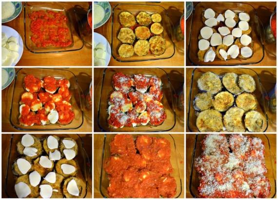 patlıcan parmesan hazırlık